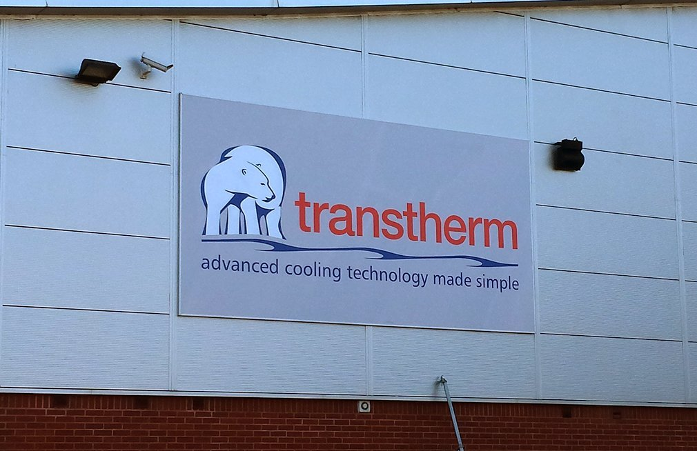 Lightbox signage for office building in Birmingham