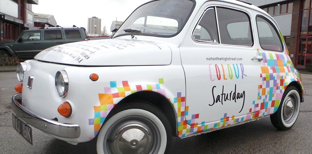Full Colour Printed Classic Car Wrap