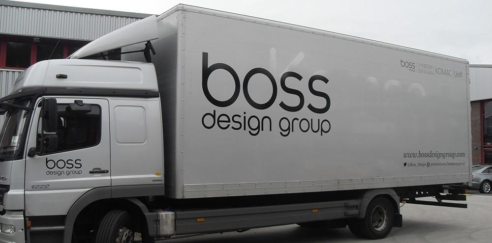 Vehicle branding for Boss Design Group fleet