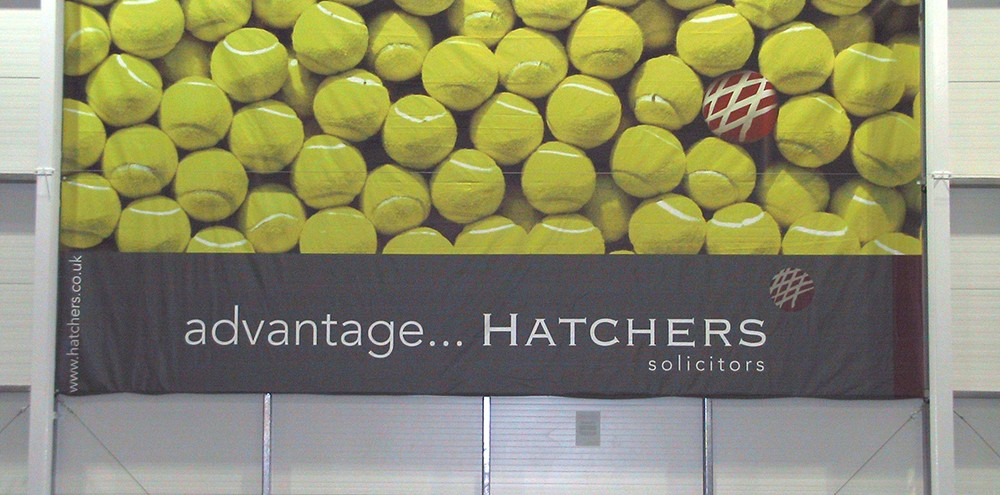 Digitally Printed Tennis Banner