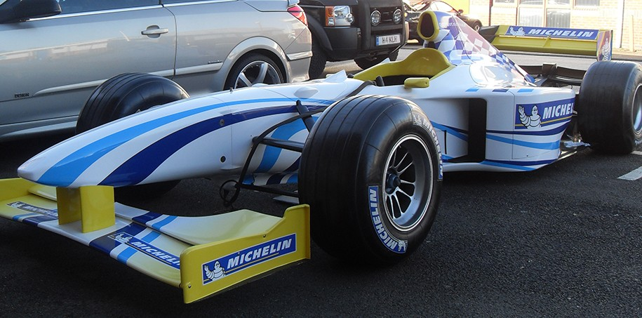 Racing decals for Formula One car