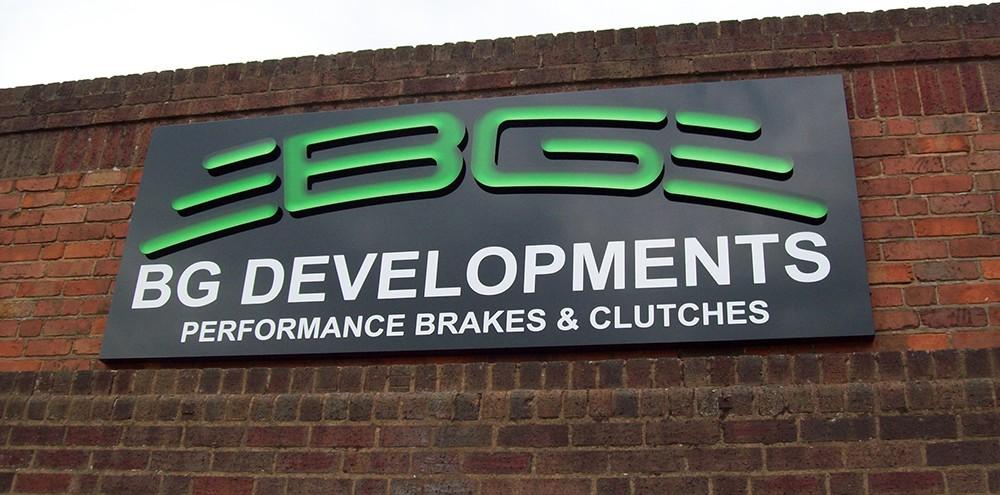 Business signage in Birmingham for BG Developments
