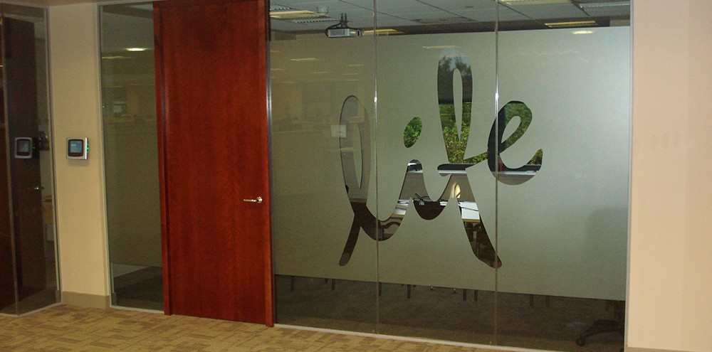 Birmingham frosted window graphics