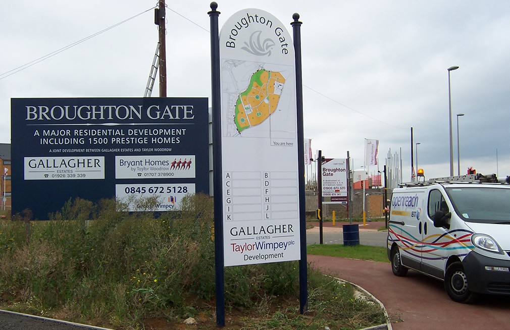 Example of a modular sign in Birmingham