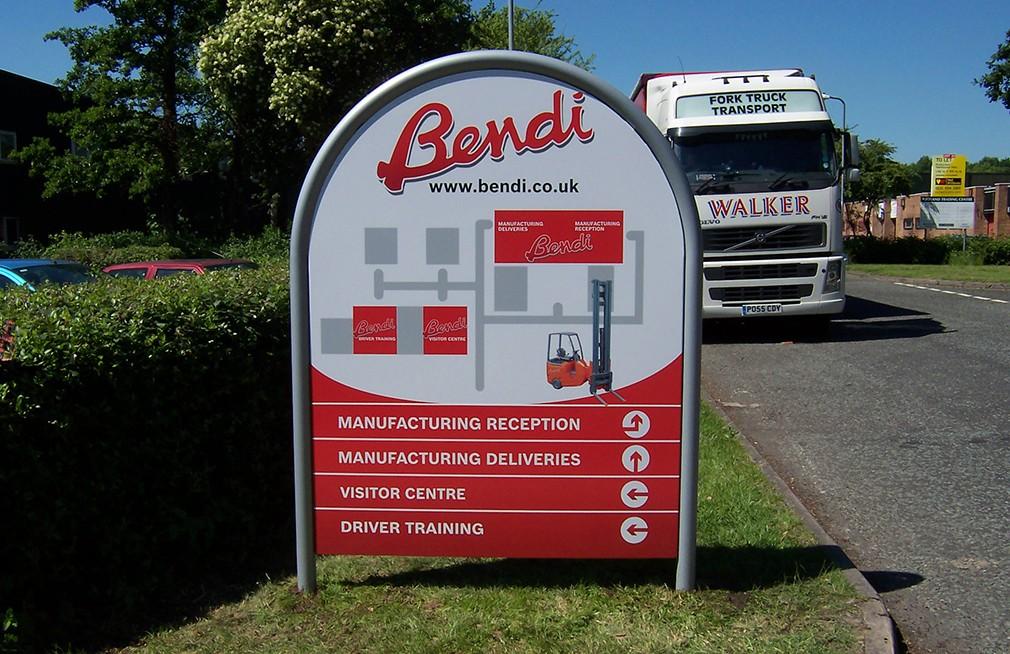 Modular signs for industrial park in Birmingham