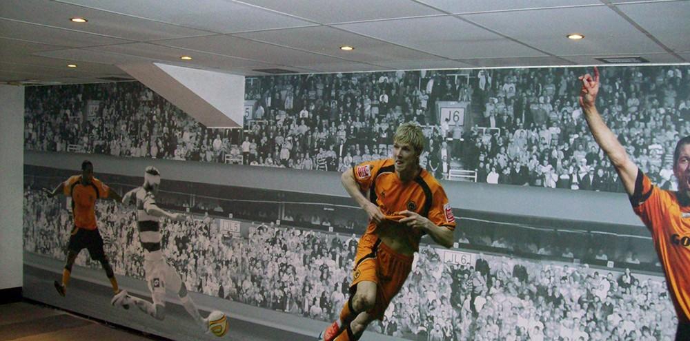 Large format printed wall panelling in Wolverhampton