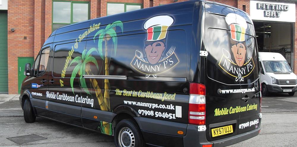 Car wraps for Nanny P's van in Birmingham