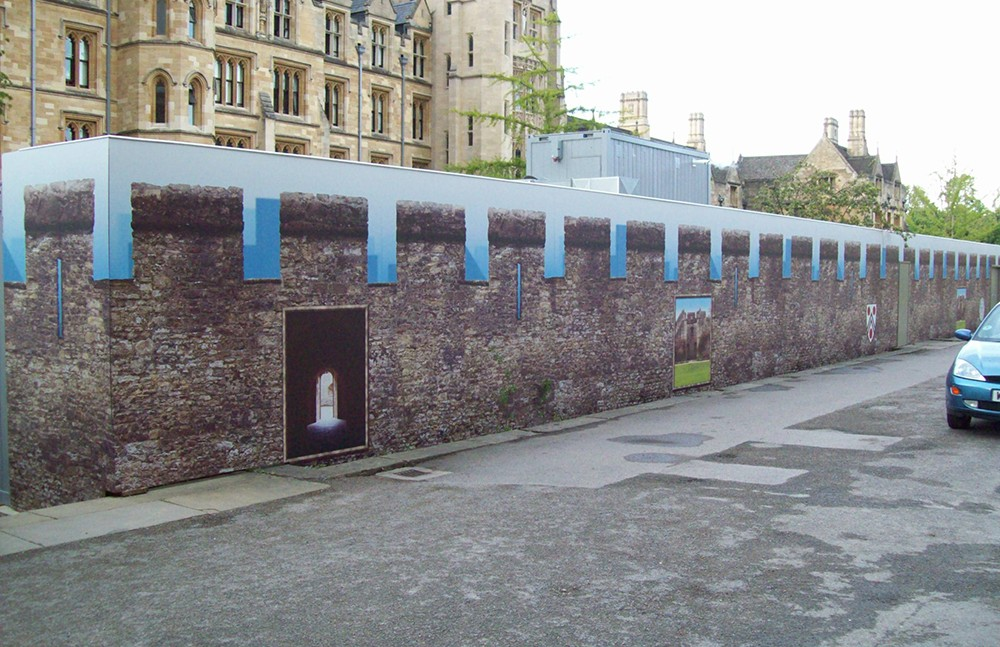 Large format printed hoarding for New College in Oxford
