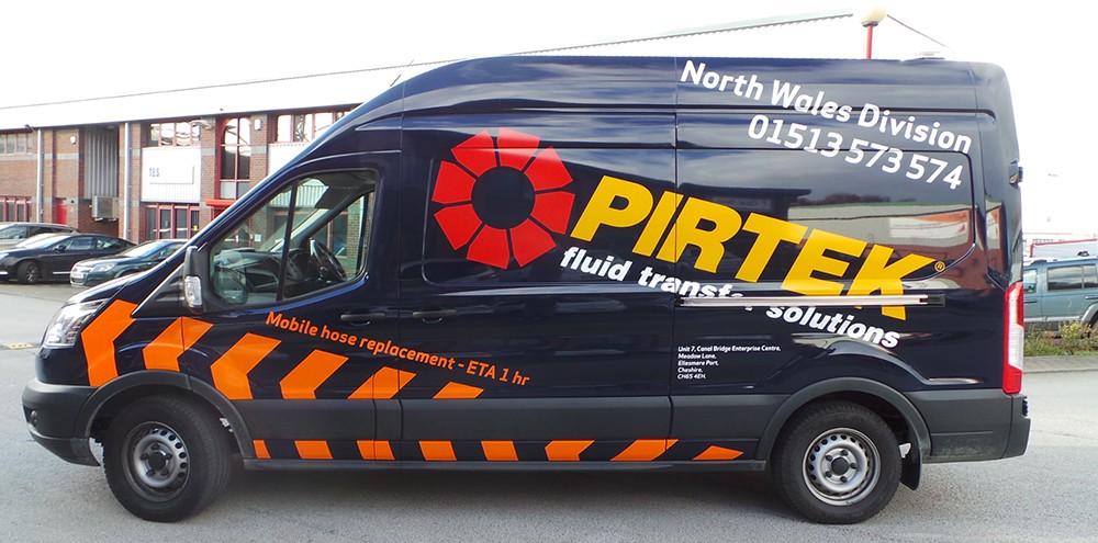 Pirtek Fleet Van Graphics