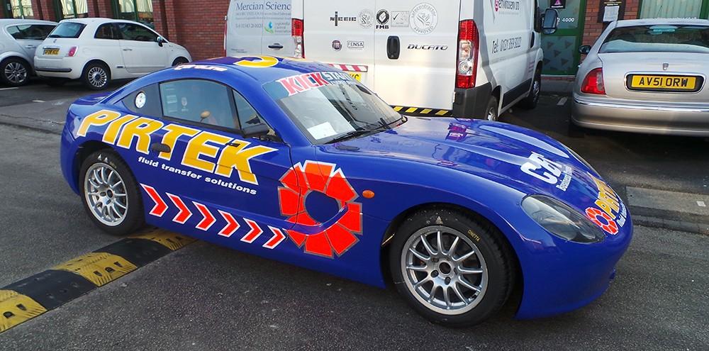 Pirtek Ginetta racing graphics