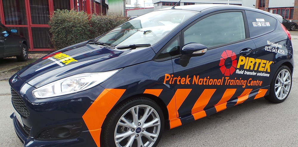 Vinyl car wraps in Birmingham for Pirtek