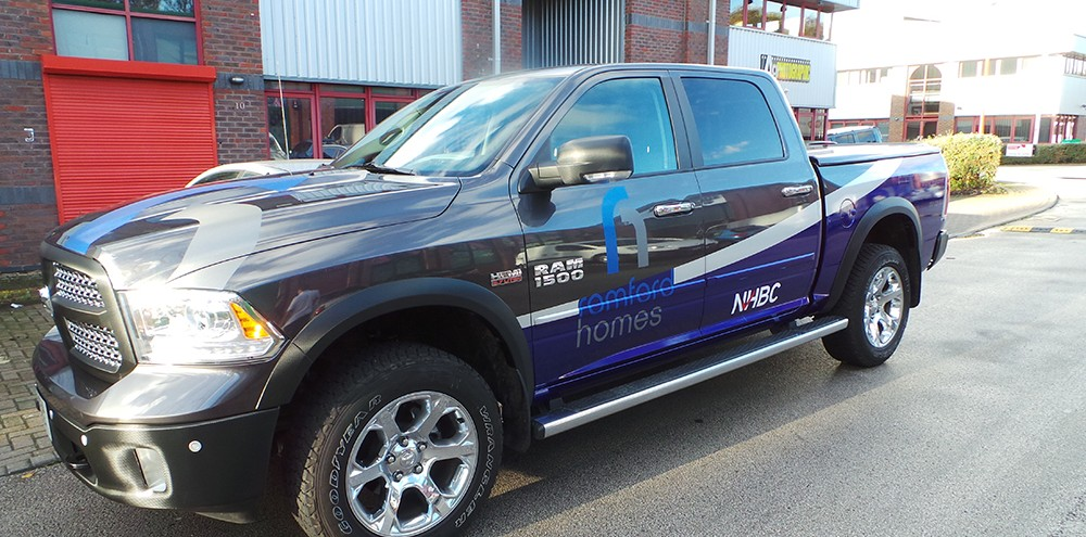 Romford Homes Partial Vehicle Wrap