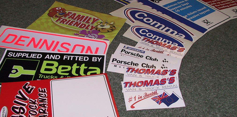 Various Screen Printed Stickers