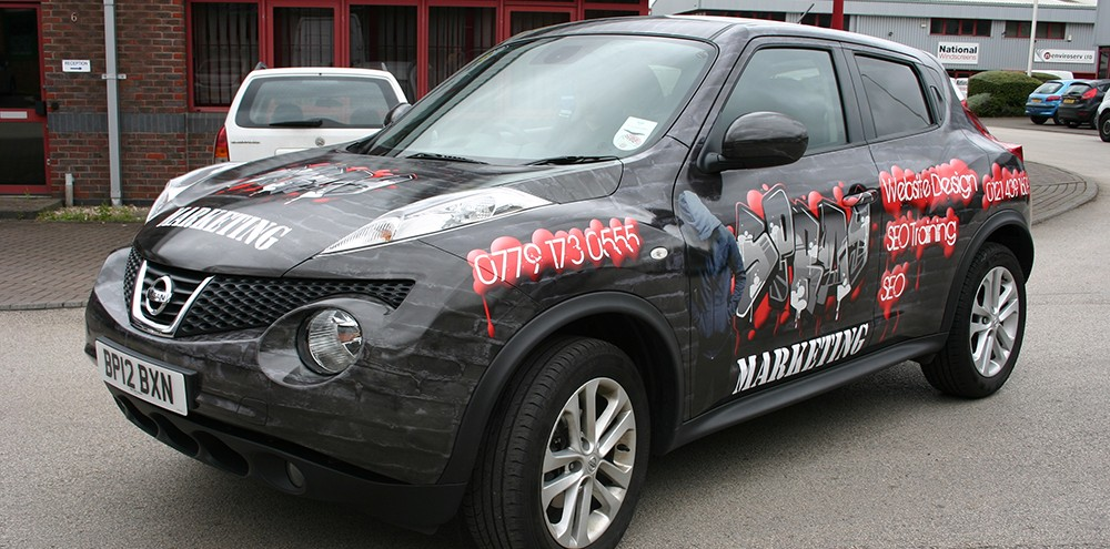 Fully Printed Wrap on a Nissan Juke