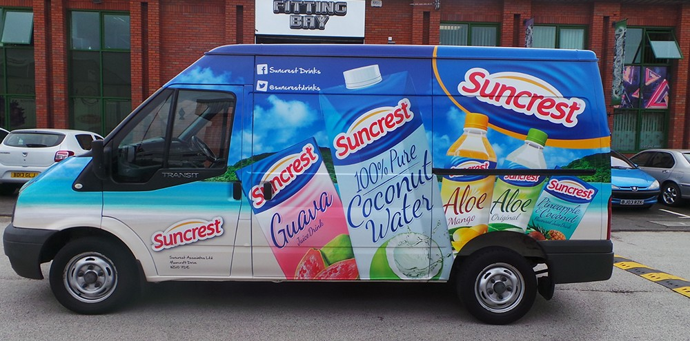 Car wrapping for Suncrest van in Birmingham