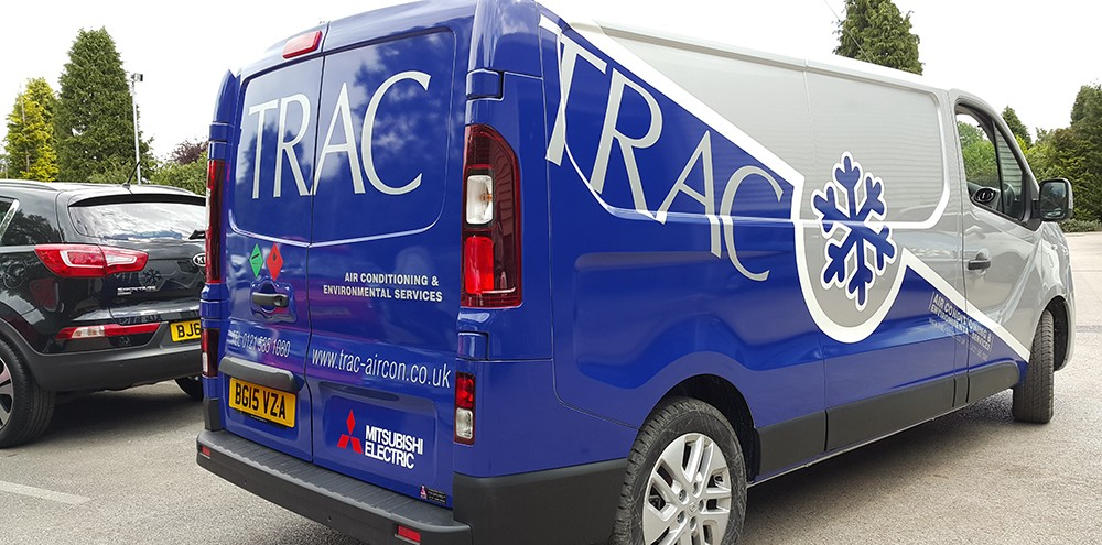 Birmingham van wrapping for Trac Systems