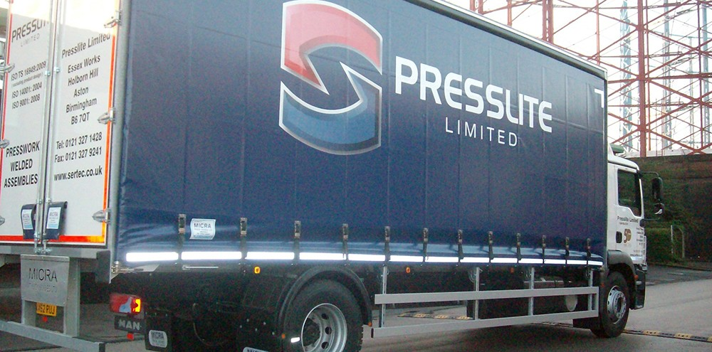 Vinyl truck wrap for Presslite in Birmingham