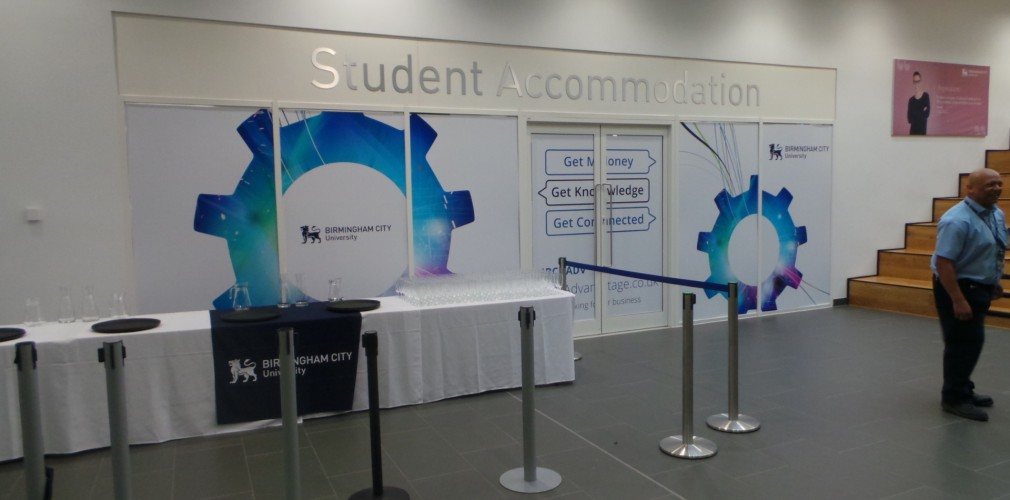 Birmingham City Students Union Event Wall