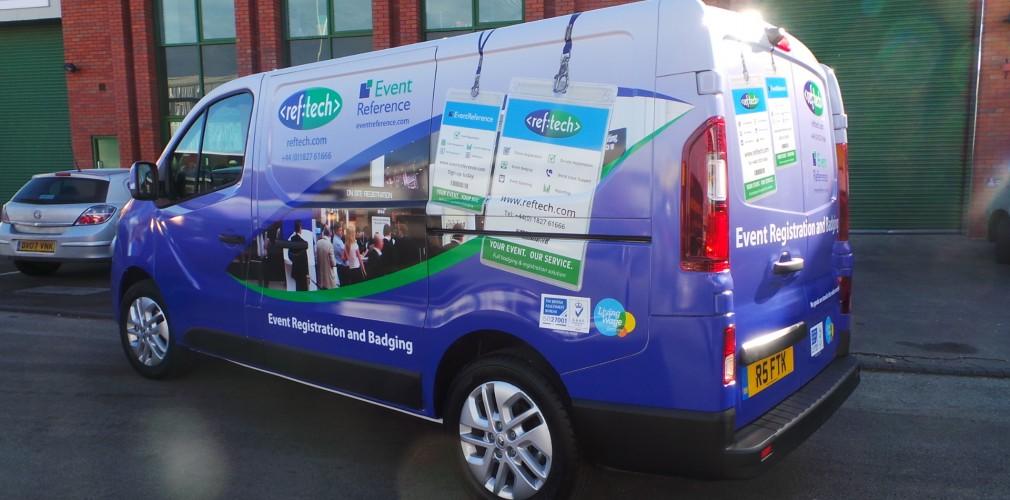Birmingham-based Reference Technologies van wrap