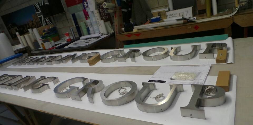 Stainless Built-up Lettering with LEDs